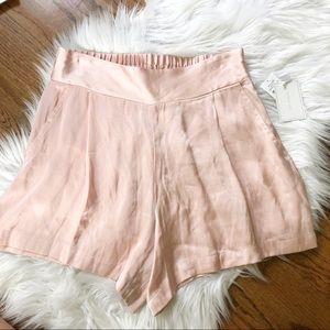 NWT 1.State Pink Satin High Waisted Shorts